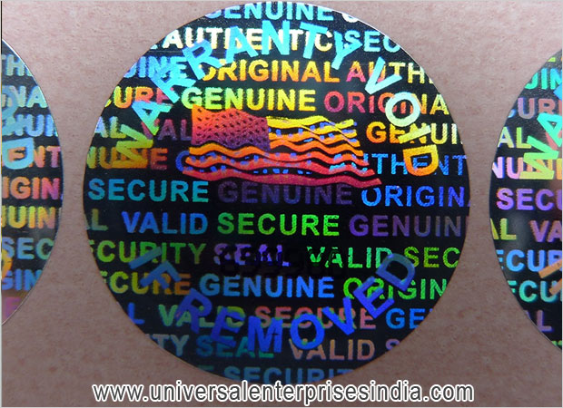 Warranty / Original / Genuine Hologram Labels manufacturers suppliers sellers in ludhiana punjab india