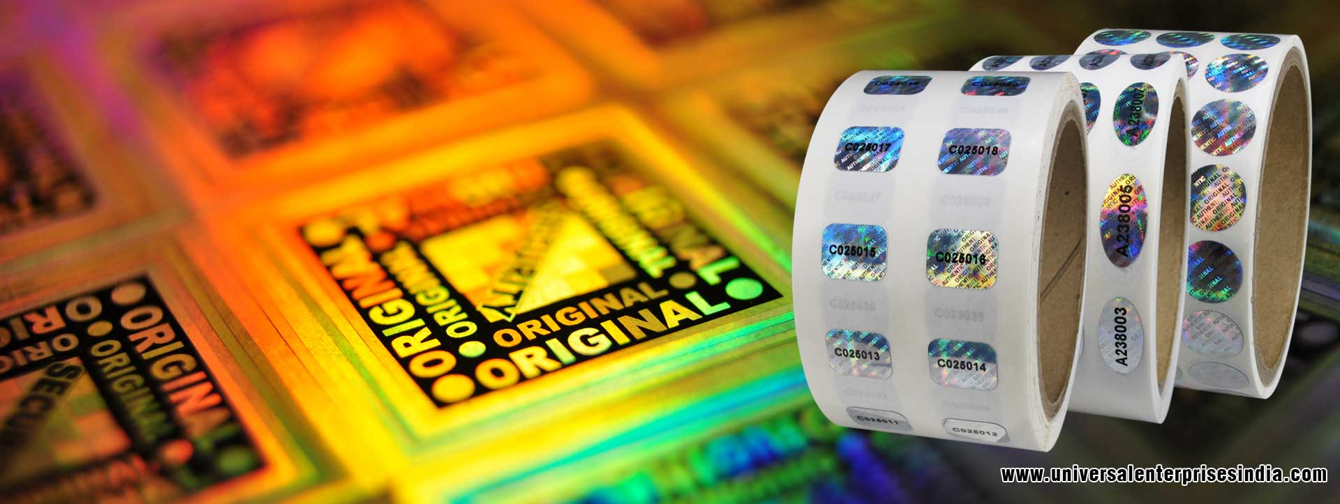 Hologram Labels Hologram Stickers Hologram with Barcodes manufacturers suppliers dealers in ludhiana Punjab India