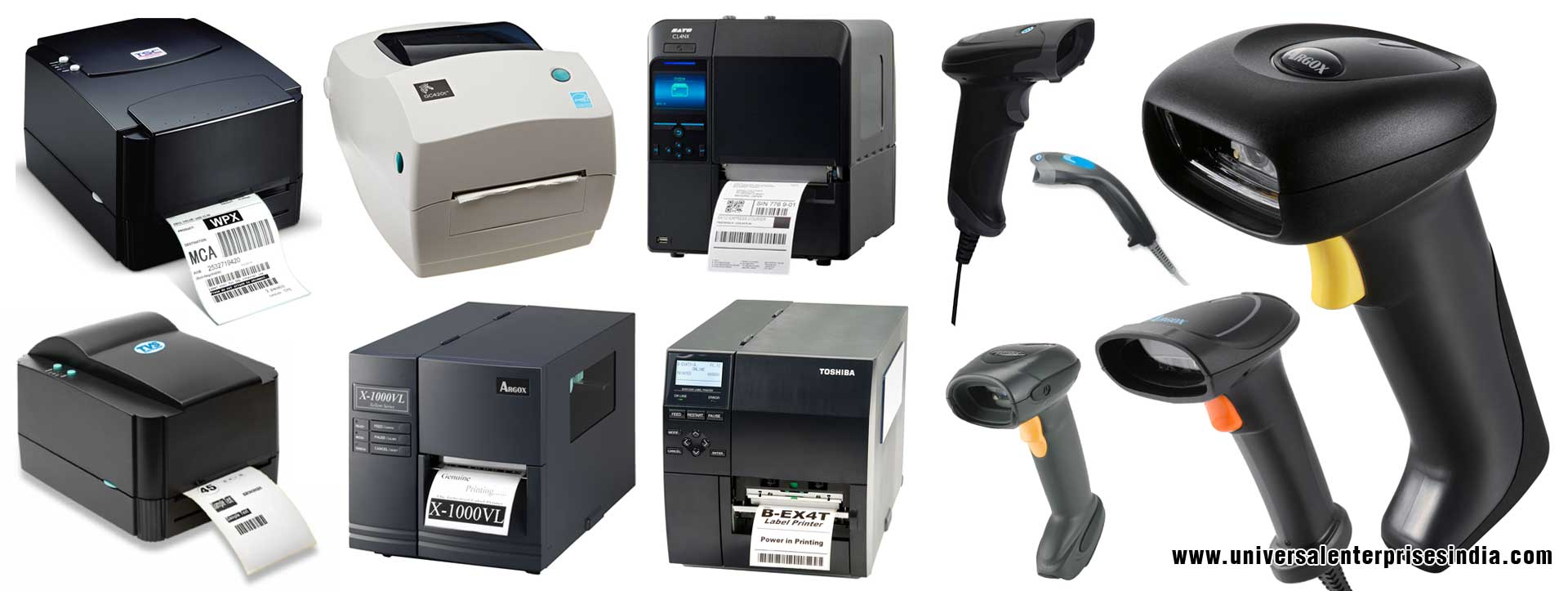 Barcode Printers Barcode Scanners TSC Zebra Argox TVS  Sato Toshiba Barcode Printers Scanners manufacturers suppliers dealers in ludhiana Punjab India